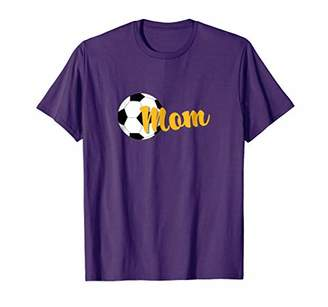 Soccer Mom Soccer Ball Graphic T-Shirt (Gold)