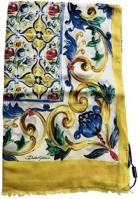 Dolce & Gabbana Yellow Cashmere Scarves