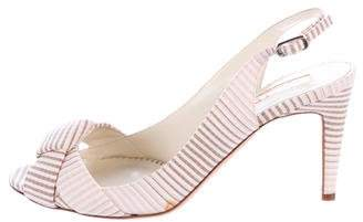 Rupert Sanderson Striped Slingback Sandals