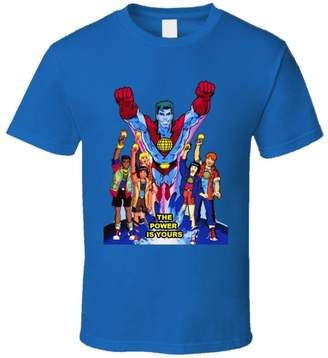 Perfect Fit T Shirts Captain Planet and The Planeteers T Shirt 3XL