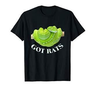 Ash Snake Python2 Got Rats Grey T Shirt