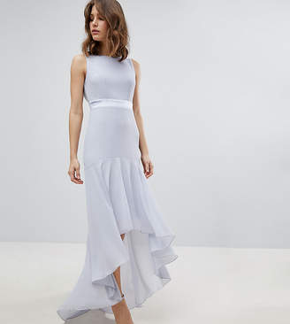 TFNC Maxi Bridesmaid Dress With High Low Hem