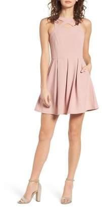 Speechless Cutout Scuba Skater Dress