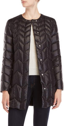 Via Spiga Packable Chevron Quilted Jacket