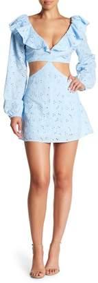 Love + Harmony Cutout Eyelet Lace Mini Dress