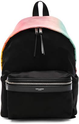 Saint Laurent Mini Ombre Satin City Backpack