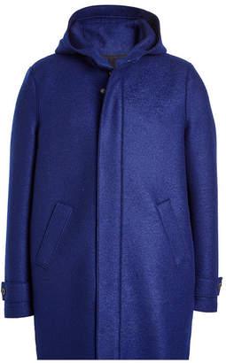 Harris Wharf London Virgin Wool Coat with Hood