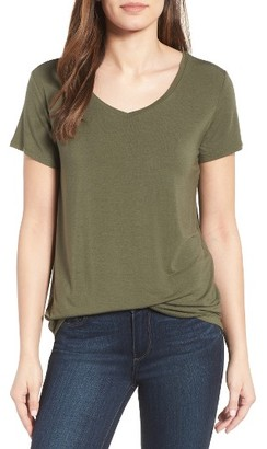 Women's Halogen Modal Jersey V-Neck Tee $32 thestylecure.com