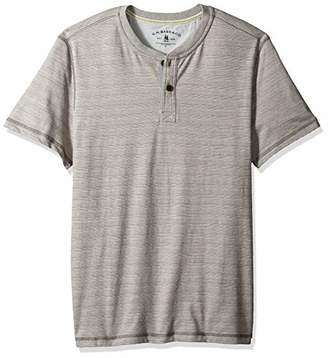 G.H. Bass & Co. Men's Madawaska Short Sleeve Feeder Stripe Henley Shirt