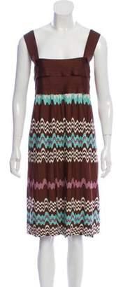 Missoni Knit Patterned Dress Brown Knit Patterned Dress