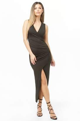 Forever 21 Surplice Bodycon Maxi Dress