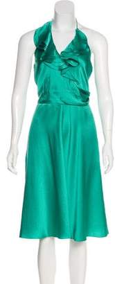 Halston Silk Halter Dress w/ Tags