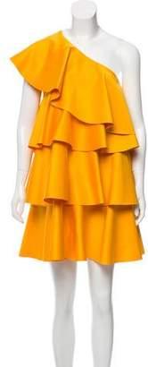 SOLACE London Ruffled One-Shoulder Dress