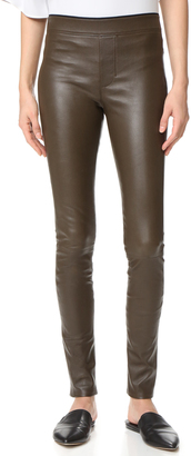 Helmut Lang Stretch Leather Leggings $920 thestylecure.com