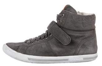 Prada Sport Suede High-Top Sneakers