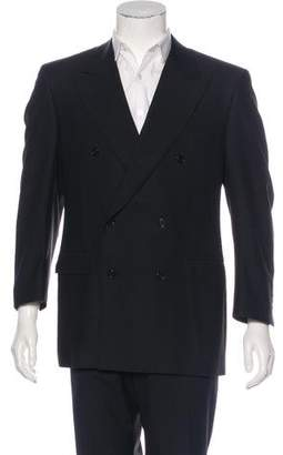Canali Wool Double-Breasted Blazer