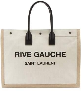 Rive Gauche canvas tote bag