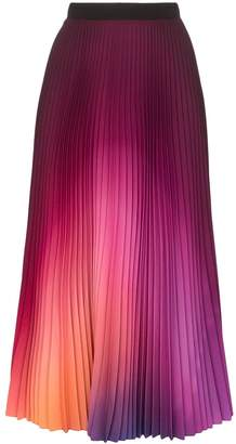 Mary Katrantzou gradient pleated midi skirt