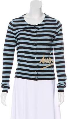Sonia Rykiel Striped Button-Up Cardigan