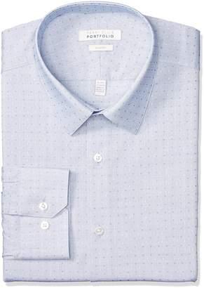Perry Ellis Men's Slim Fit Performance Dobby Dress Shirt