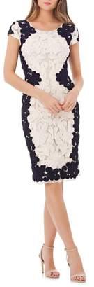 JS Collections Contrast Soutache Sheath Dress