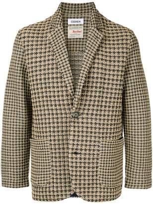 Coohem checked tweed jacket