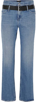 RtA Dexter Belted Distressed Jeans - Light denim