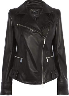 Karen Millen Fitted Leather Jacket