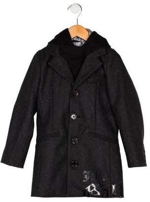 John Galliano Boys' Layered Wool Coat