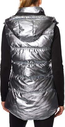 Betsey Johnson Longline Hooded Water-Resistant Puffer Vest