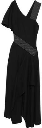 Carolina Herrera Asymmetric Crepe Midi Dress