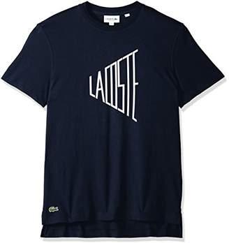 Lacoste Men's Short Sleeve Wordplay Jersey Regular Fit T-Shirt