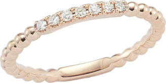 Rosegold The Alkemistry Dana Rebecca diamond band 14ct rose-gold ring