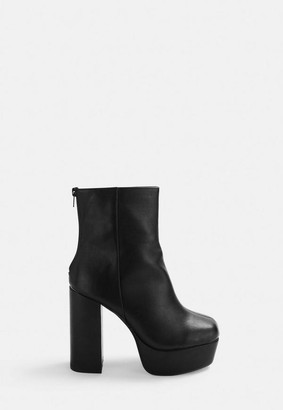 ab736f3383c1 Missguided Black Chunky Platform Boots