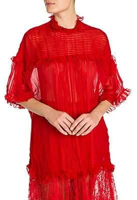 d61afdff2d87c Valentino Women s Silk Chiffon Victorian Blouse