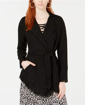 Ginger by Stella & Ginger Lace & Boucle Wrap Jacket
