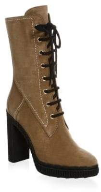 Tod's Lace-Up Suede Booties