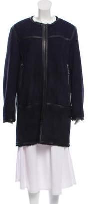 Isabel Marant Suede Knee-Length Coat