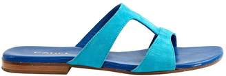 Carel Turquoise Suede Sandals
