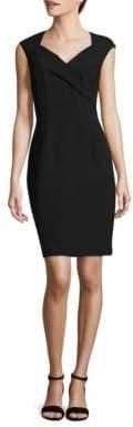 Ellen Tracy Cap Sleeve Sheath Dress