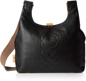 Orla Kiely Core Embossed Flower Leather Midi Sling Bag