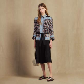 Sandro Long Printed Shirt Dress