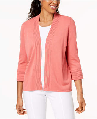 JM Collection Open-Front Bell Sleeve Cardigan, Created for Macy's