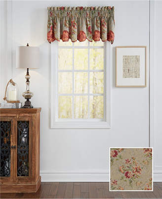 Waverly Fresco Flourish Scalloped Window Valance