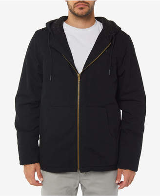 O'Neill Men's Detroit Fleece-Lined Full-Zip Hooded Canvas Jacket