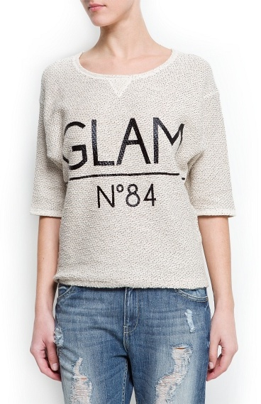 MANGO Glam sweatshirt