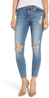 Women's Dl1961 Margaux Instasculpt Ripped Ankle Skinny Jeans $198 thestylecure.com