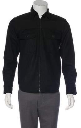 Rag & Bone Flannel Wool Zip Shirt