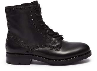 Ash 'Wolf' pyramid stud leather combat boots