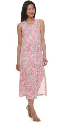 Croft & Barrow Women's Printed Maxi Nightgown